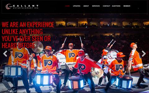 Screenshot of Home Page gallantentertainmentinc.com - Home - Gallant Entertainment Inc. - captured July 3, 2015