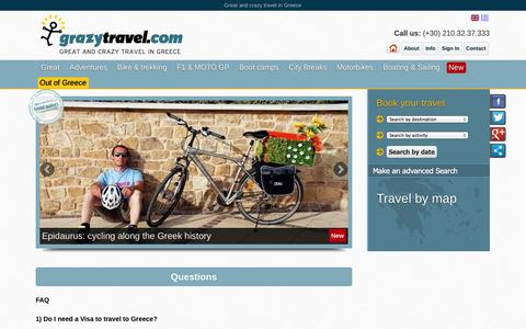 Screenshot of FAQ Page grazytravel.com - Frequently Asked Questions | Grazytravel - captured Sept. 30, 2014