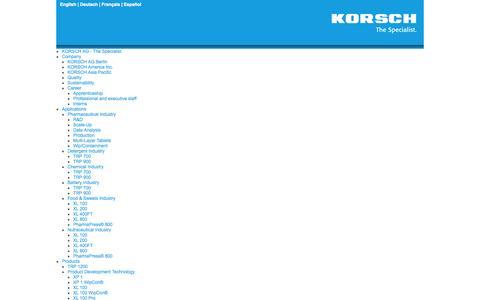 Screenshot of Site Map Page korsch.com - Sitemap - captured Oct. 6, 2014