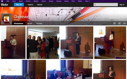 Screenshot of Flickr Page flickr.com - Flickr: Cepreven's Photostream - captured Oct. 22, 2014