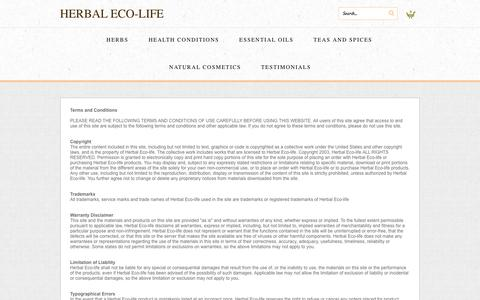 Screenshot of Terms Page herbalecolife.com - Terms - captured Sept. 30, 2014