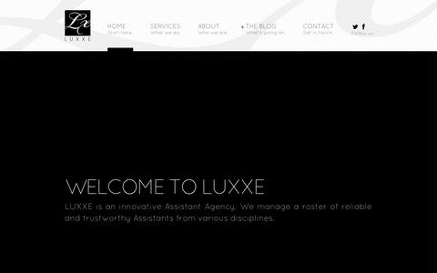 Screenshot of Home Page luxxe.ca - LUXXE Agency - captured Oct. 1, 2014