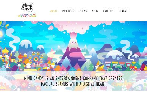 Screenshot of About Page mindcandy.com - Mind Candy - captured July 20, 2014