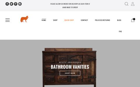 Screenshot of Home Page foxdendecor.com - Buy Rustic Handcrafted Home Decor Products in Texas | Custom Rustic and Reclaimed Wood Furniture | FoxDen Decor - captured Aug. 4, 2016