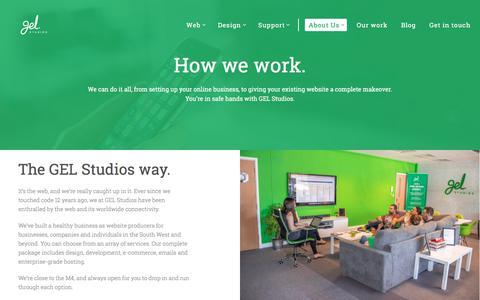 Screenshot of About Page gelstudios.co.uk - Digital Agency Swindon - Web, Design & Support - captured Aug. 13, 2018