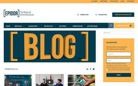 Screenshot of Blog epidor.com - Blog I Epidor Technical Distribution - captured Sept. 25, 2018