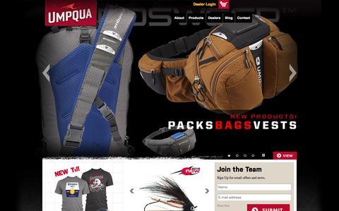 Screenshot of Home Page umpqua.com - Umpqua Feather Merchants | Umpqua - captured Feb. 4, 2016