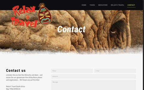 Screenshot of Contact Page relax-n-travel.de - Contact - relax n travel - captured June 11, 2018