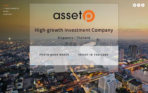 Screenshot of Home Page assetp.co - ASSET P - captured Sept. 30, 2014