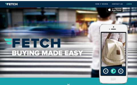 Screenshot of Home Page buywithfetch.com - Fetch - Personal Buying Assistant - captured Sept. 12, 2014