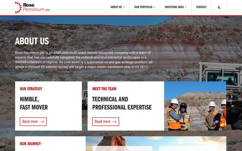 Screenshot of About Page rosepetroleum.com - About us – Rose Petroleum - captured March 8, 2018