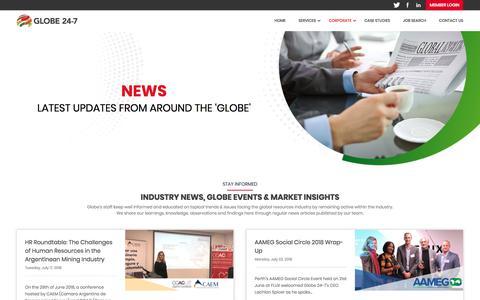 Screenshot of Press Page globe24-7.com - News | Globe 24-7 - captured July 21, 2018