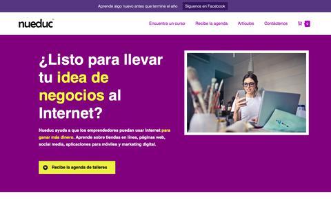 Screenshot of Home Page nueduc.com - Nueduc- Cursos en línea, marketing, diseño web y fotografía - captured Oct. 23, 2018