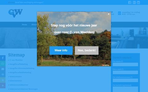 Screenshot of Site Map Page cvanweelden.nl - sitemap - captured Nov. 30, 2016