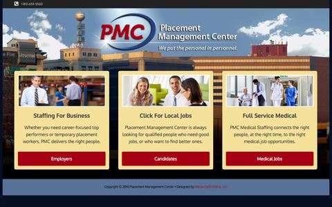 Screenshot of Home Page pmcworks.com - Employment Agencies | Staffing Companies | Flint, MI | Genesee County | Temp Agencies - captured Oct. 2, 2014