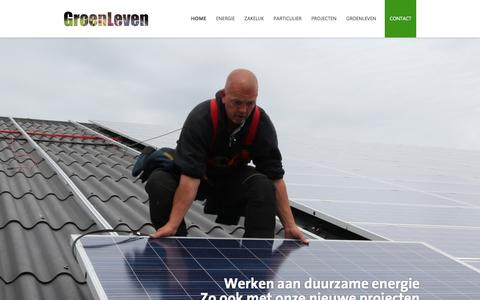 Screenshot of Home Page groenleven.nl - GroenLeven levert duurzame zonne-energieoplossingen - captured Nov. 16, 2016