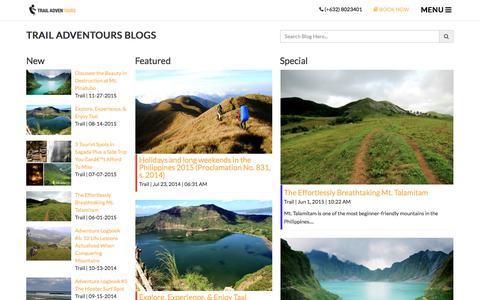 Screenshot of Blog trailadventours.com - Blogs   Trail Adventours - captured June 17, 2017