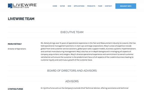 Screenshot of Team Page livewireinnovation.com - LiveWire Team - LiveWire Innovation - captured Nov. 5, 2018