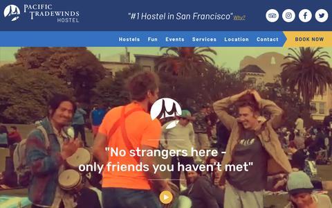 Screenshot of Home Page san-francisco-hostel.com - San Francisco Hostels - Pacific Tradewinds Hostel - San Francisco, USA - captured Sept. 24, 2018