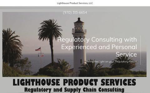 Screenshot of Home Page lhpsonline.com - Lighthouse Product Services - Regulatory Consulting, Pesticides - captured Dec. 13, 2018
