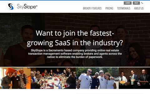 Screenshot of Jobs Page skyslope.com - Careers | SkySlope - captured Nov. 20, 2015