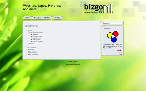 Screenshot of Site Map Page bizgo.nl - sitemap - captured Nov. 3, 2014