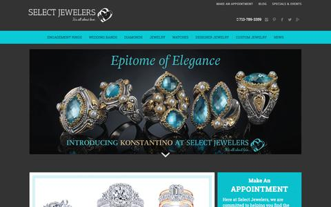 Screenshot of Home Page selectjewelers.com - Select Jewelers – Engagement Rings Houston – Custom Designer Jewelry - captured May 26, 2017