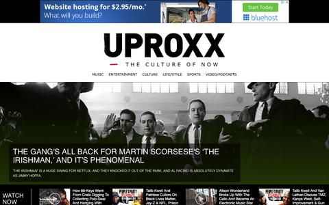 Screenshot of Home Page uproxx.com - UPROXX – The Culture Of Now - captured Oct. 1, 2019