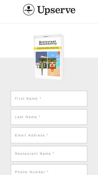 Restaurant Seasonality Planning | Upserve