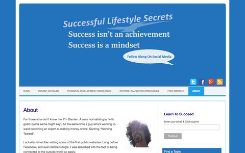 Screenshot of About Page successful-lifestyle-secrets.ca - About | Successful Lifestyle Secrets - captured April 11, 2017