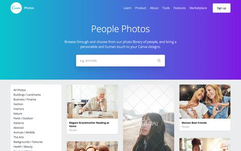 Screenshot of Team Page canva.com - 1000+ Free & Premium People Stock Photos - captured Sept. 15, 2017