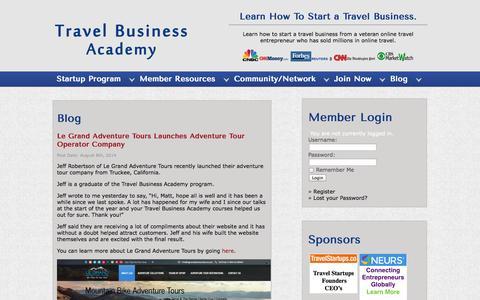 Screenshot of Blog travelbusinessacademy.com - Blog- Start a Travel Business, Travel Agency, Tour Operator, Tourism Marketing Business | Travel Business Academy - captured Oct. 26, 2014