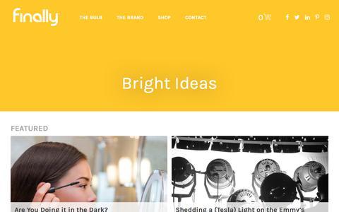 Screenshot of Blog finallybulbs.com - Bright Ideas – Finally Blog Page   Finally Bulbs - captured Oct. 13, 2017