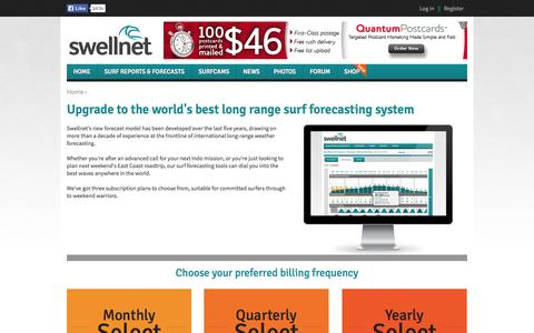 Screenshot of Signup Page swellnet.com - Upgrade to the world's best long range surf forecasting system | Swellnet - captured Sept. 19, 2014