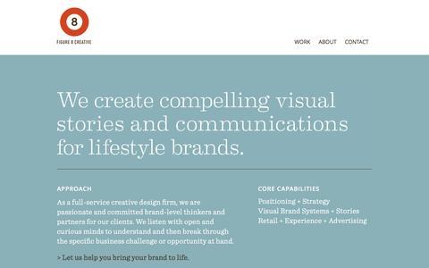 Screenshot of Home Page figure8creative.com - Home Page - Figure 8 Creative - captured Jan. 8, 2016