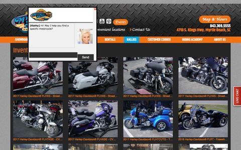 Screenshot of Site Map Page myrtlebeachharley.com - Inventorymap | Myrtle Beach Harley-Davidson® South Carolina - captured Dec. 3, 2016