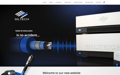 Screenshot of Home Page siltechcables.com - Home - Siltech - captured Jan. 26, 2015