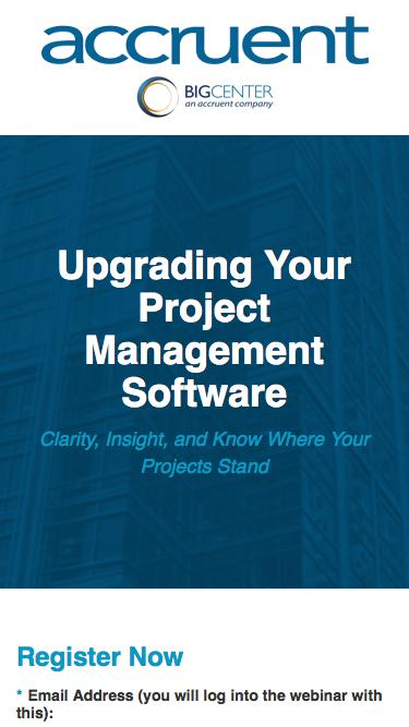 Upgrading Your Project Management Software - Registration