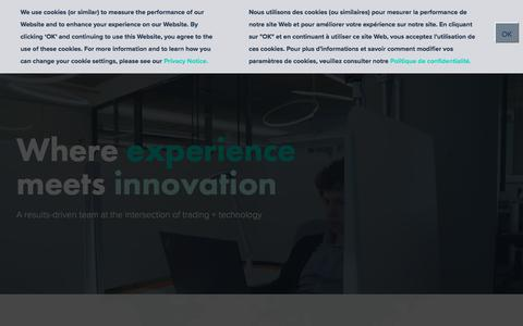 Screenshot of Home Page drw.com - At the intersection of trading + technology in Chicago | DRW - captured July 2, 2019
