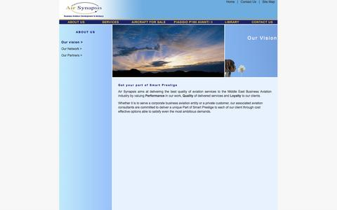 Screenshot of About Page airsynapsis.com - Middle East aviation consultants delivering quality aviation services to the business aviation industry - captured Sept. 26, 2014