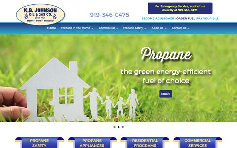 Screenshot of Home Page kbjohnson.com - Residential & Commercial Propane Delivery in NC - K.B. Johnson - captured Oct. 16, 2017