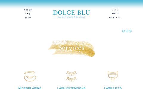 Screenshot of Services Page dolcebluaustin.com - All — Dolce Blu Austin - captured Nov. 14, 2018