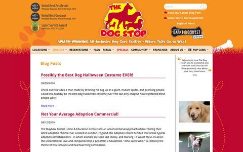 Screenshot of Blog thedogstop.net - Blog Posts   The Dog Stop - captured Oct. 7, 2014