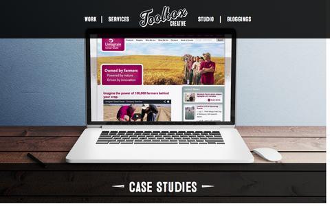 Screenshot of Case Studies Page toolboxcreative.com - Case Studies - Toolbox Creative Toolbox Creative - captured Oct. 28, 2014