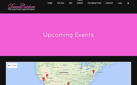Screenshot of Maps & Directions Page dreamcatchers.com - Upcoming Events – Events – DreamCatchers - captured May 31, 2016