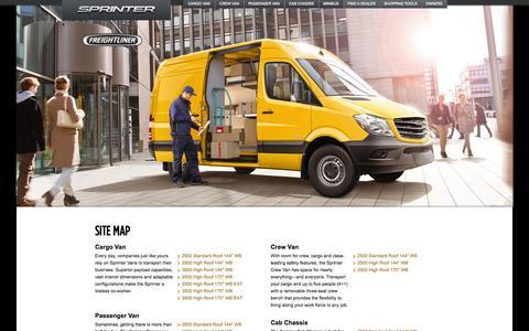 Screenshot of Site Map Page freightlinersprinterusa.com - The 2015 Sprinter Van. Built to Work Smarter. - captured Oct. 31, 2014