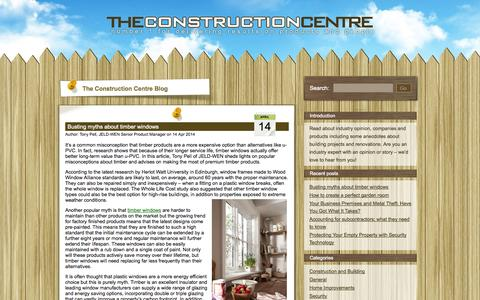 Screenshot of Blog theconstructioncentre.co.uk - The Construction Centre - Number 1 for delivering results on products and people - captured Oct. 26, 2014