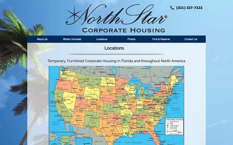 Screenshot of Locations Page northstarcorporatehousing.com - North Star Corporate Housing  | Locations - captured Oct. 19, 2018