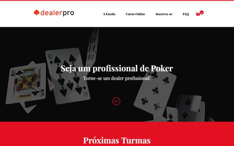 Screenshot of Home Page dealerpro.com.br - Aulas de poker para dealer - captured Sept. 27, 2018