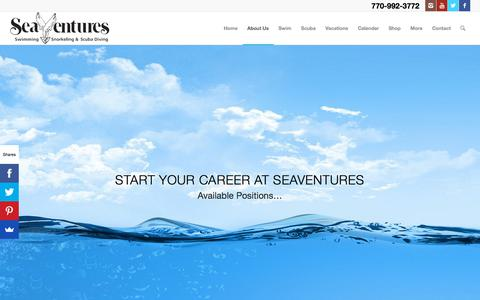 Screenshot of Jobs Page seaventures.com - Career Page | SeaVentures - captured Sept. 20, 2018